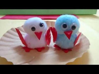 DIY - Bird Crafts Using Cotton | Innovative Artsncrafts