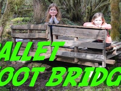 DIY Foot Bridge Built with Pallets - Time Lapse