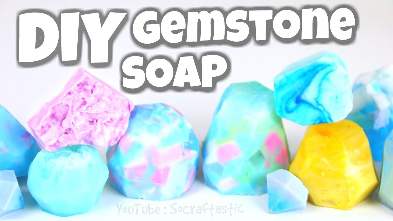 DIY Gemstone Soap - Easy Melt & Pour Soap Making How To - SoCraftastic