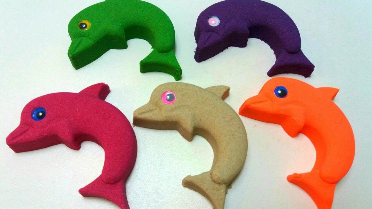 DIY How to Make Delfin Kinetic Sand Fun Molds Modeling Fruits