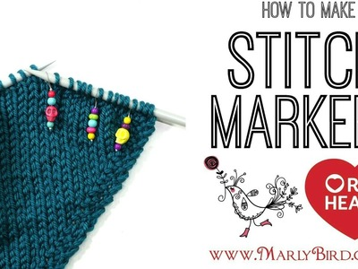 DIY How to Make Knitting Stitch Markers