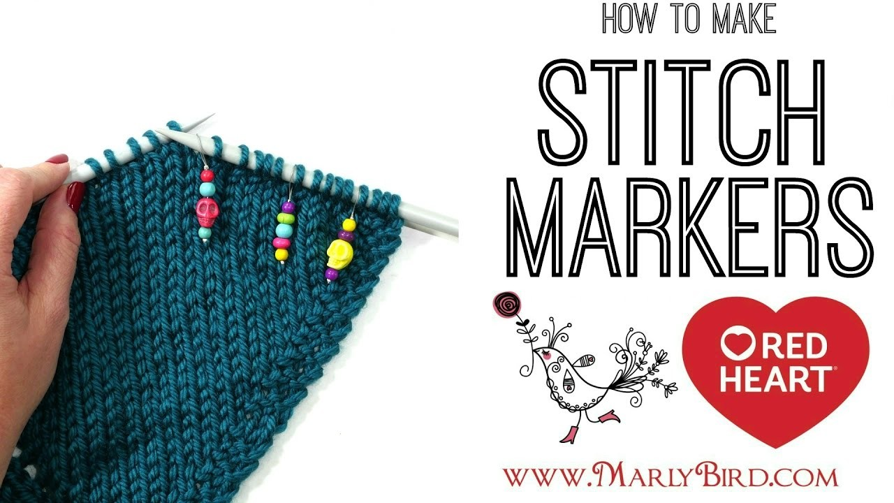Knitting Stitch Markers How To Make : Diy how to make knitting stitch markers my crafts and