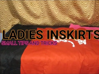 ✔ DIY LADIES INSKIRTS - TIPS AND TRICKS IN TAMIL 2017