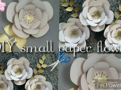 DIY paper flower part1. DIY Como hacer flor de papel tamaño chico parte1
