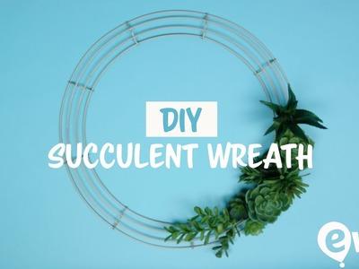 DIY Succulent Wreath | Home Decor Idea For Summer 2017 ????