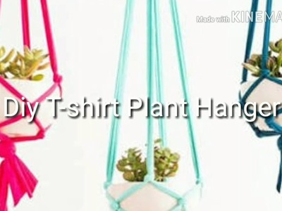 DIY T-shirt plant hanger. how to hang plants