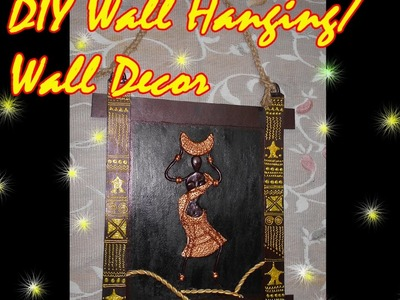 DIY Wall hanging.wall decor| How to make wall hanging by using Shilpkar|SimplyEasy