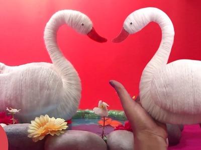 DIY Woolen Swan : How to make Swan Showpiece for Home Decoration