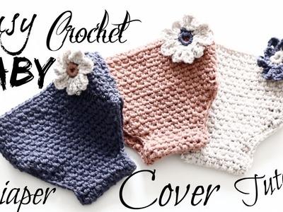 Easy Adorable Crochet Baby Diaper Cover Tutorial