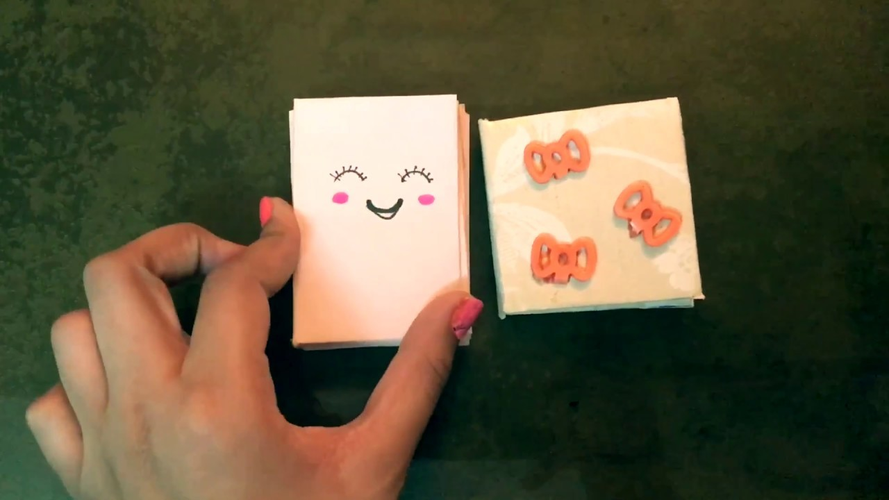 how to make a mini diary out of paper