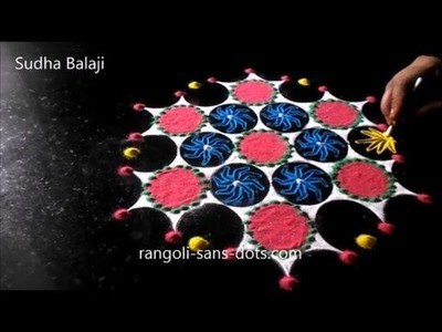 Easy Rangoli making | ideas for summer camps activites | tools | paper cups , bangles, buds