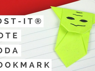 Easy Star Wars Origami - Post-it® Note Crafts Yoda Bookmark Tutorial! How to Make a Paper Yoda