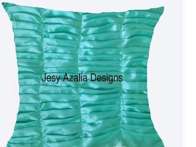 Fabric manipulation technique for a cushion cover.DIY CUSHIONS Jesy Azalia Designs