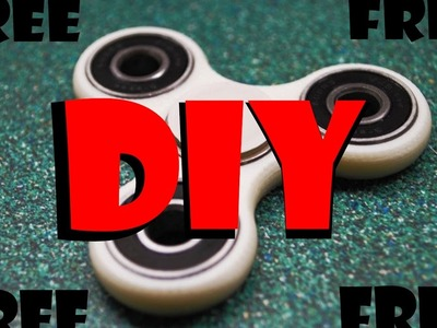 FREE DIY FIDGET SPINNER-CHEAPEST VERSION!! How-To-Make Hand Spinner Fidget Toy