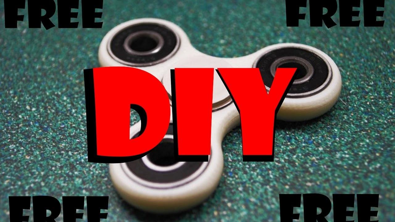 FREE DIY FIDGET SPINNER-CHEAPEST VERSION!! How-To-Make Hand Spinner Fidget Toy