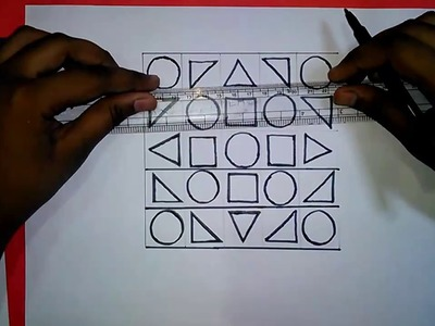 Geometric Design 5''x5'' for jsc students | how to draw Art and Craft Lessons for kids