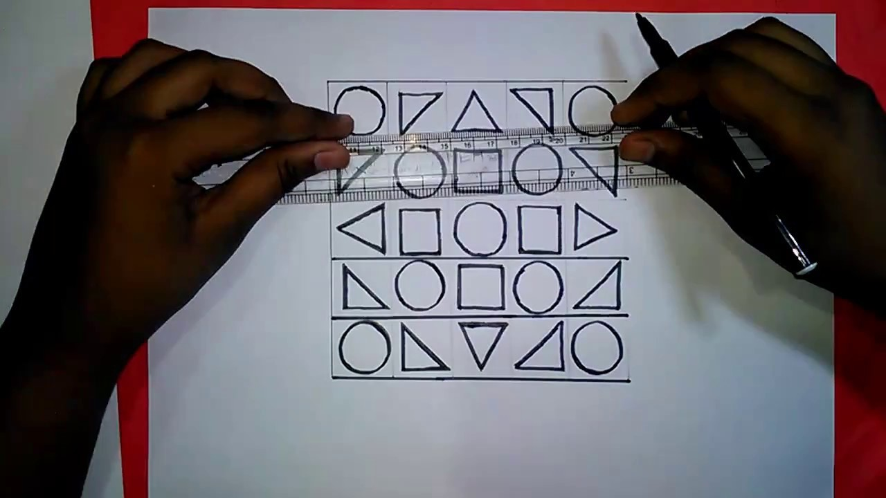 Geometric Design 5''x5'' for jsc students   how to draw Art and Craft Lessons for kids