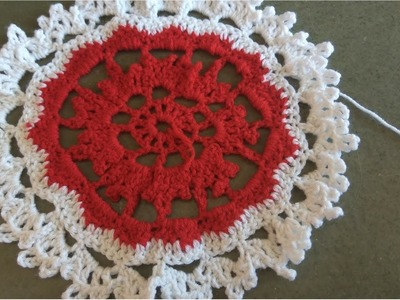 Handmade crochet tablecloth part(3.3)(Crocheted life)