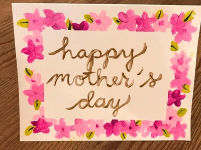 Homemade Mother's Day Card Kids Crafts DIY