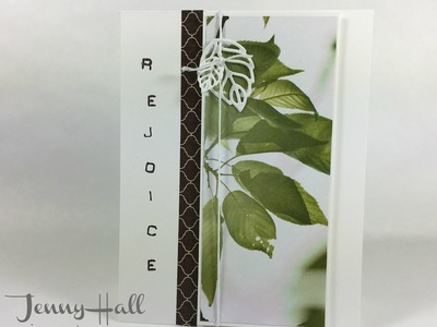 How I use DSP scraps for an easy card design using Stampin Up products with Jenny Hall