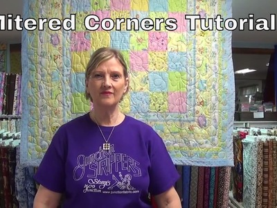 How to Add a Border with Mitered Corners Tutorial from www.junctionfabric.com