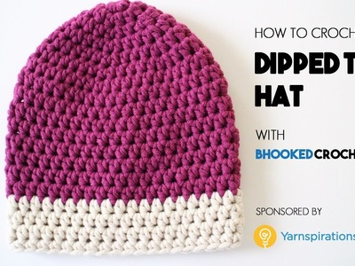 How to Crochet the Dipped Tip Crochet Hat Left Handed - Beginner Friendly