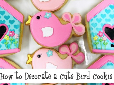 How to Decorate a Cute Bird Cookie