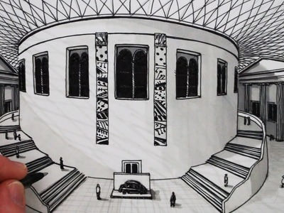 How to Draw 1-Point Perspective: The British Museum Building