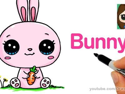 How to Draw a Cartoon Bunny Rabbit Easy
