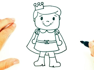 How to draw a Prince   Prince Easy Draw Tutorial