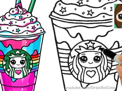 How to Draw a Starbucks Unicorn Frappuccino