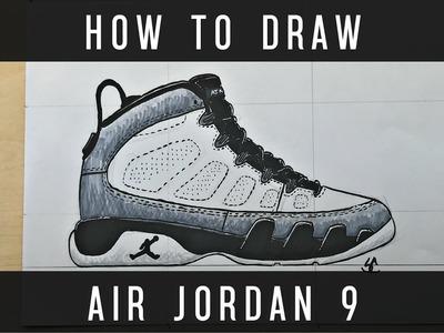 How To Draw: Air Jordan 9 w. Downloadable Stencil