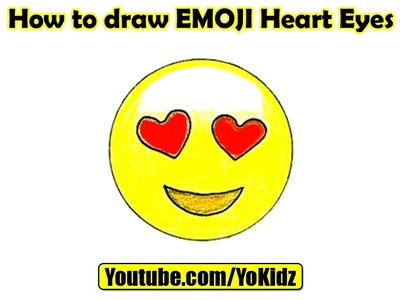How to draw EMOJI Heart Eyes