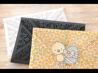 How to get the perfect cut with your Doily Envelope Die