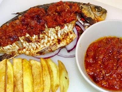 How To Grill Tilapia Fish || With Nigerian Hot pepper sauce