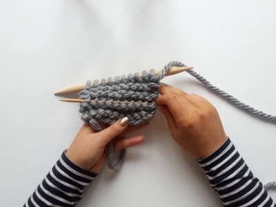 How to Insert an Afterthought Lifeline into Garter Stitch