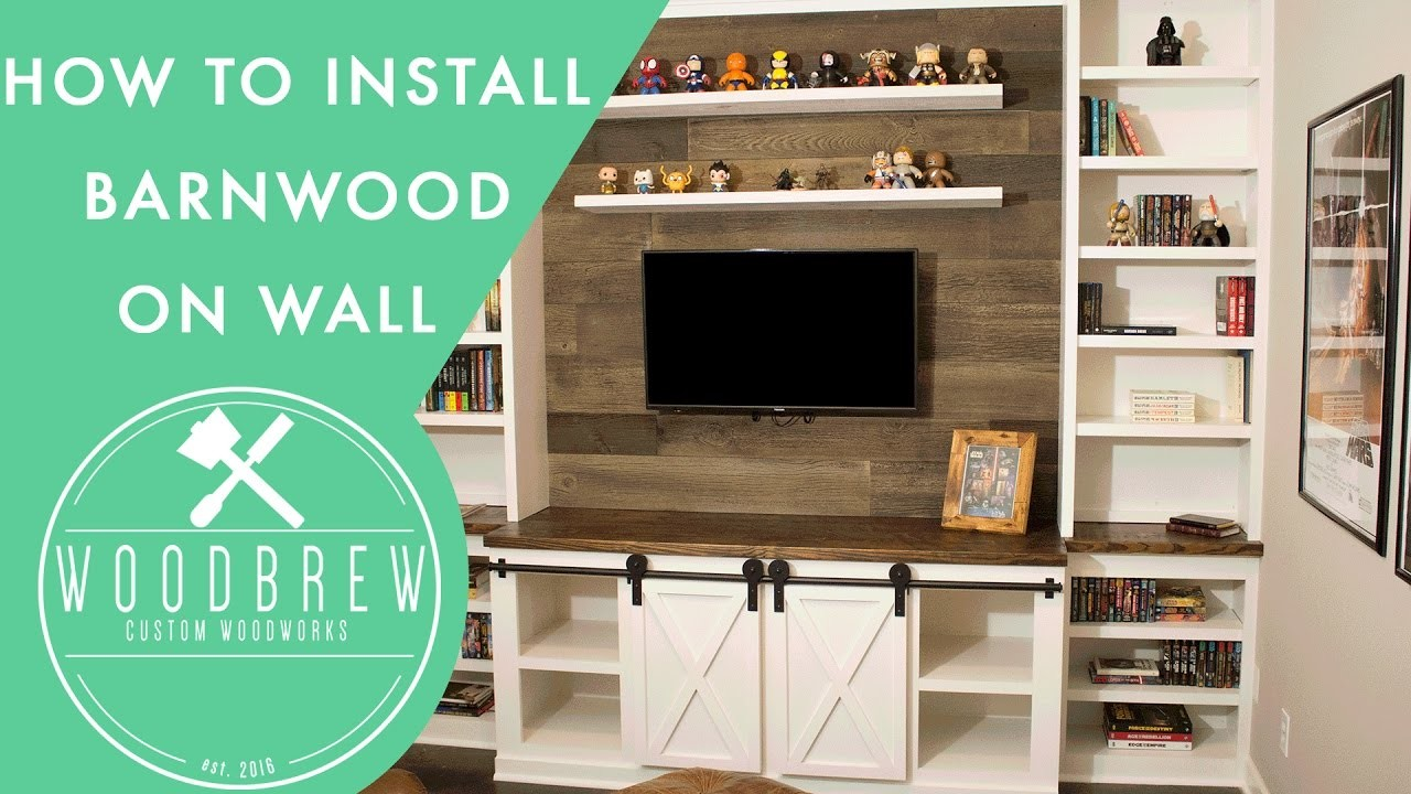 How to Install Faux Barn Wood The Easy Way | DIY