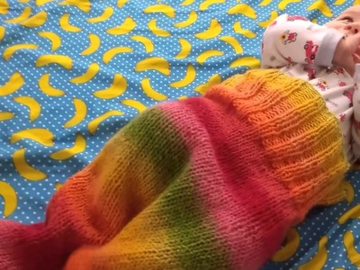 How to knit a baby sleeping bag