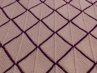How to knit mitered squares blanket (top and bottom triangles)