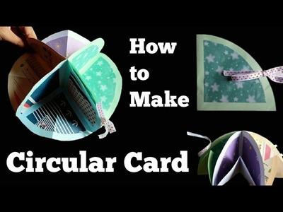 How to make a Circular Card | Handmade scrapbook ideas | Full Tutorial |