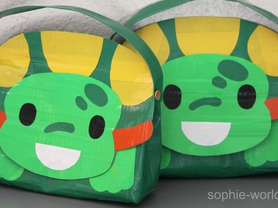 How to Make a Duct Tape Turtle Bag | Sophie's World