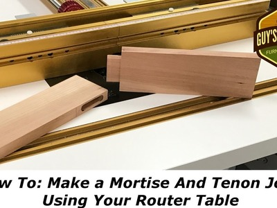 How To: Make a Mortise and Tenon using only the Router Table.Woodworking How To