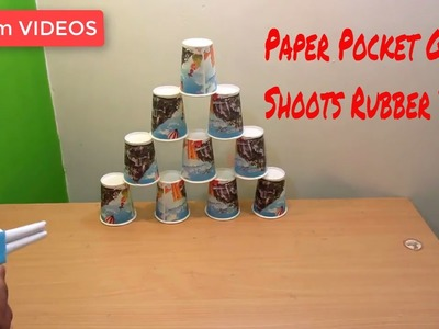 How to make a Paper Pocket GUN that shoots Rubber band - EASY TUTORIAL