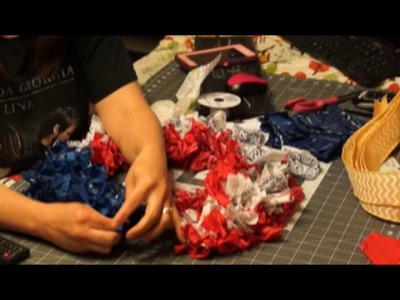 How to Make a Patriotic Rag Wreath