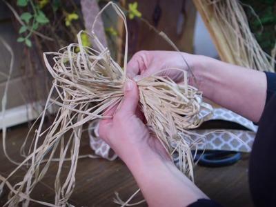 How to Make a Raffia Bow - Carolina Pottery