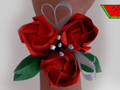 How to make an ORIGAMI CORSAGE - Paper Melon