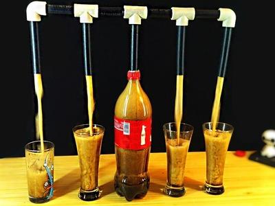 How to make at home dispenser for Coca Cola and Mentos