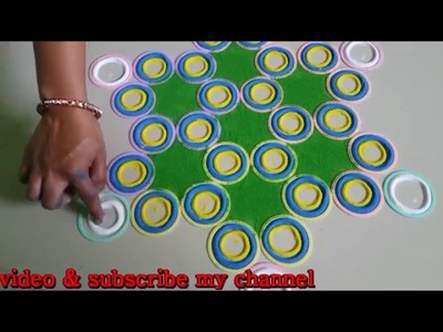 How to make Bangles type rangoli design