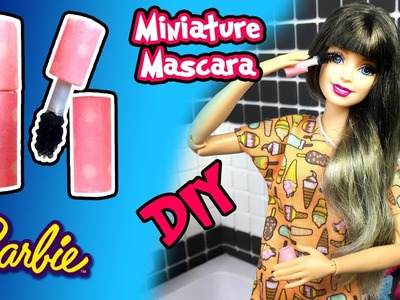 How to Make Barbie Doll Makeup - Mascara - DIY Easy Doll Crafts - Making Kids Toys