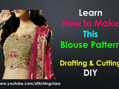 How to Make Belt Blouse with Sweetheart Neck Design and Back Side Opening